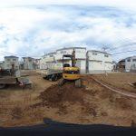 【360パノラマ画像】上尾市浅間台1丁目 全3区画 H区画 【不動産 / 土地】