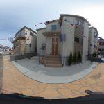 【360パノラマ画像】 桶川市神明2丁目 全3棟 2号棟 【不動産 / 新築一戸建て】